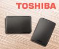 Скидка 7% за внешние жесткие диски Toshiba по промокоду TOSHIBA.