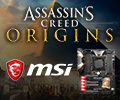 Купи материнскую плату MSI на чипсете X299 или Z370 и получи код «Assassin's Creed® Истоки» в подарок.