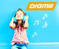 Скидка 20% по промокоду на MP3 плееры DIGMA.