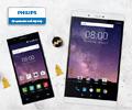 До 900 экстрабонусов за смартфоны и планшеты Philips.