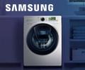 Карты Visa от 3000 рублей в подарок за стиральную машину Samsung.