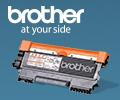 При единовременной покупке двух одинаковых картриджей Brother - третий в подарок