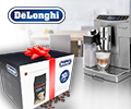 Скидка 100% на годовой запас кофе в зернах KIMBO ARABICA при заказе с кофемашиной DELONGHI.