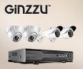 Скидка 20% по промокоду на комплекты видеонаблюдения Ginzzu.