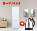 Электрический чайник SMILE за покупку холодильника SHIVAKI.
