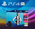 Комплект FIFA19 с системой PS4 по суперцене 32990 рублей.