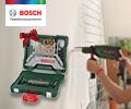 Набор бит и сверл BOSCH в подарок при покупке в комплекте с электроинструментами BOSCH.