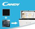 Скидка 50% на посудомоечную машину CANDY при единовременном заказе с варочной панелью и духовым шкафом.