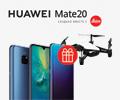 Купите смартфон HUAWEI Mate 20 и квадрокоптер DJI в подарок.