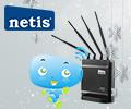 Скидка 15% по промокоду на маршрутизатор Netis WF2780.