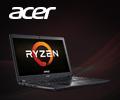 Экстрабонусы до 5000 рублей за ноутбуки Acer на базе процессоров AMD.