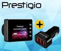 При покупке видеорегистратора PRESTIGIO - автомобильный адаптер с защитой от перенапряжения Canyon в подарок.