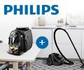 Скидка 100% на мощный компактный пылесос Philips FC8087 при заказе с бытовой техникой Philips.