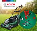 100% скидка на сучкорез или секатор BOSCH при покупке в комплекте с садовой техникой BOSCH.