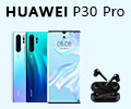 Скидка 100% на наушники HUAWEI FreeBuds при заказе со смартфонами Huawei P30 Pro.