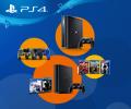 Скидки на игровые консоли, аксессуары и игры для игровых приставок PlayStation4.