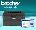 Скидка 50% на картридж при покупке в комплекте с принтером или МФУ Brother.