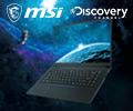Выбирай ноутбук MSI для профессионалов со скидкой до 7000 по промокоду DISCOVERY или с рассрочкой 0-0-12.