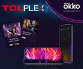 Купите смартфон TCL Plex и получите в подарок пакет подписок в онлайн-кинотеатре OKKO.