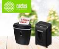 Скидка 20% на шредеры и сенсорные мусорные корзины Cactus по промокоду CACTUS.
