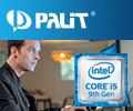 Скидки до 10% на видеокарты Palit при покупке в комплекте с процессором Intel® Core™ 9-го поколения.