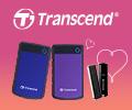 Экстрабонусы до 2000 рублей за покупку внешних жестких дисков и USB флешек Transcend.