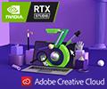 3 месяца подписки Adobe Creative Cloud при покупке ноутбуков RTX STUDIO.
