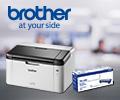 Скидка 50% на картридж при покупке в комплекте с лазерным принтером или МФУ Brother.