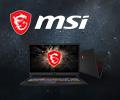 Выбирай игровой ноутбук MSI со скидкой 3000 по промокоду MSIGAME или с рассрочкой 0-0-12.