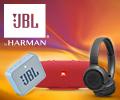 Скидка на портативные колонки и наушники JBL.