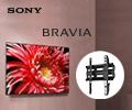 Скидка 10% на единовременный заказ телевизора Sony и кронштейна.