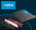 Бонусы 10% на модули памяти и SSD CRUCIAL.