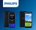 Бонусы 10% от цены за смартфоны и мобильные телефоны Philips.