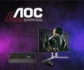 100% скидка на клавиатуру и мышь при покупке в комплекте с монитором AOC.