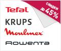 Скидки до 45% по промокоду на бытовую технику Tefal, Rowenta, Moulinex, Krups.