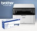 Скидка 50% на картридж BROTHER TN1095 при покупке в комплекте с принтером или МФУ Brother.