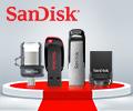 Скидка 20% на USB флешки Sandisk по промокоду SANDISK.